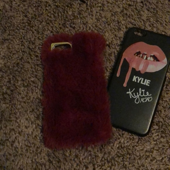 the latest d1a85 9fadf Furry phone case with free Kylie case